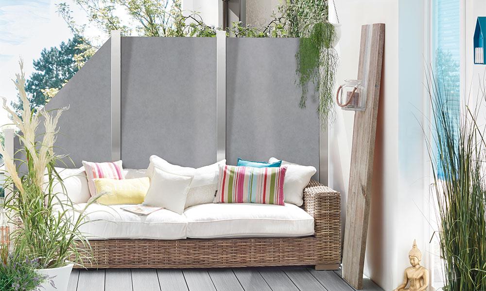 tuinscherm keramiek grijs terras