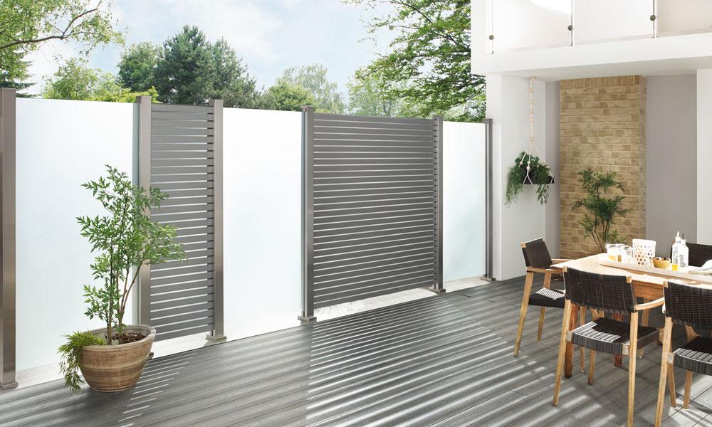 hekwerken aluminium planken anthraciet