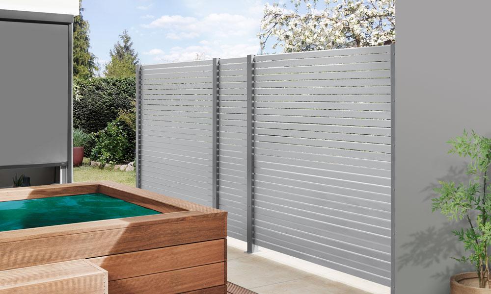 hekwerken aluminium planken argent