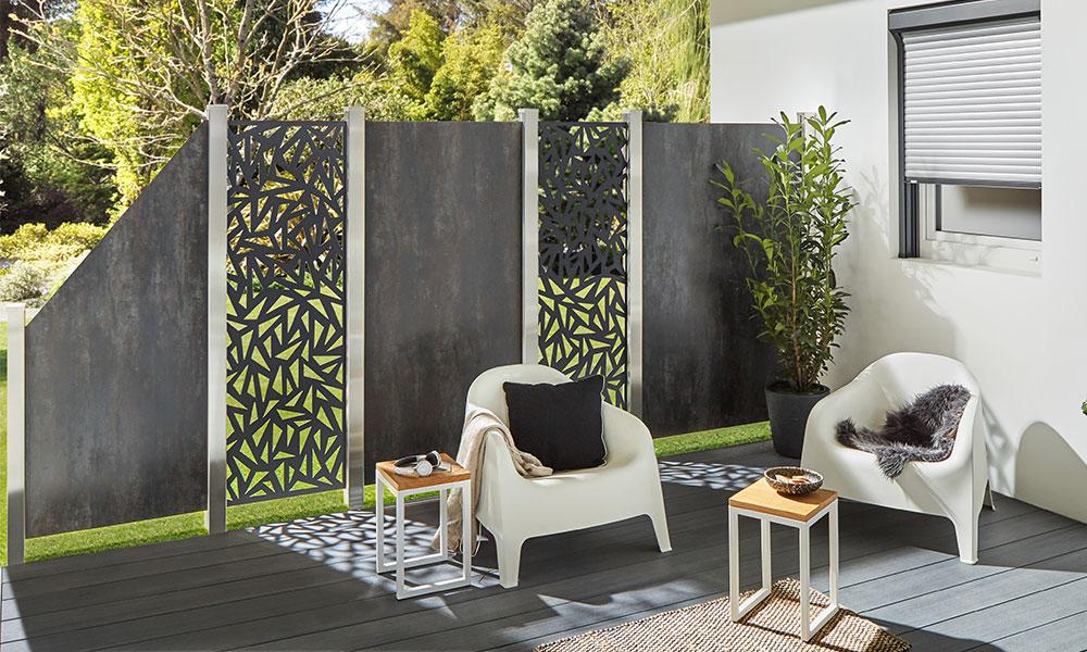 panneaux décoratif pour palissades Trigon