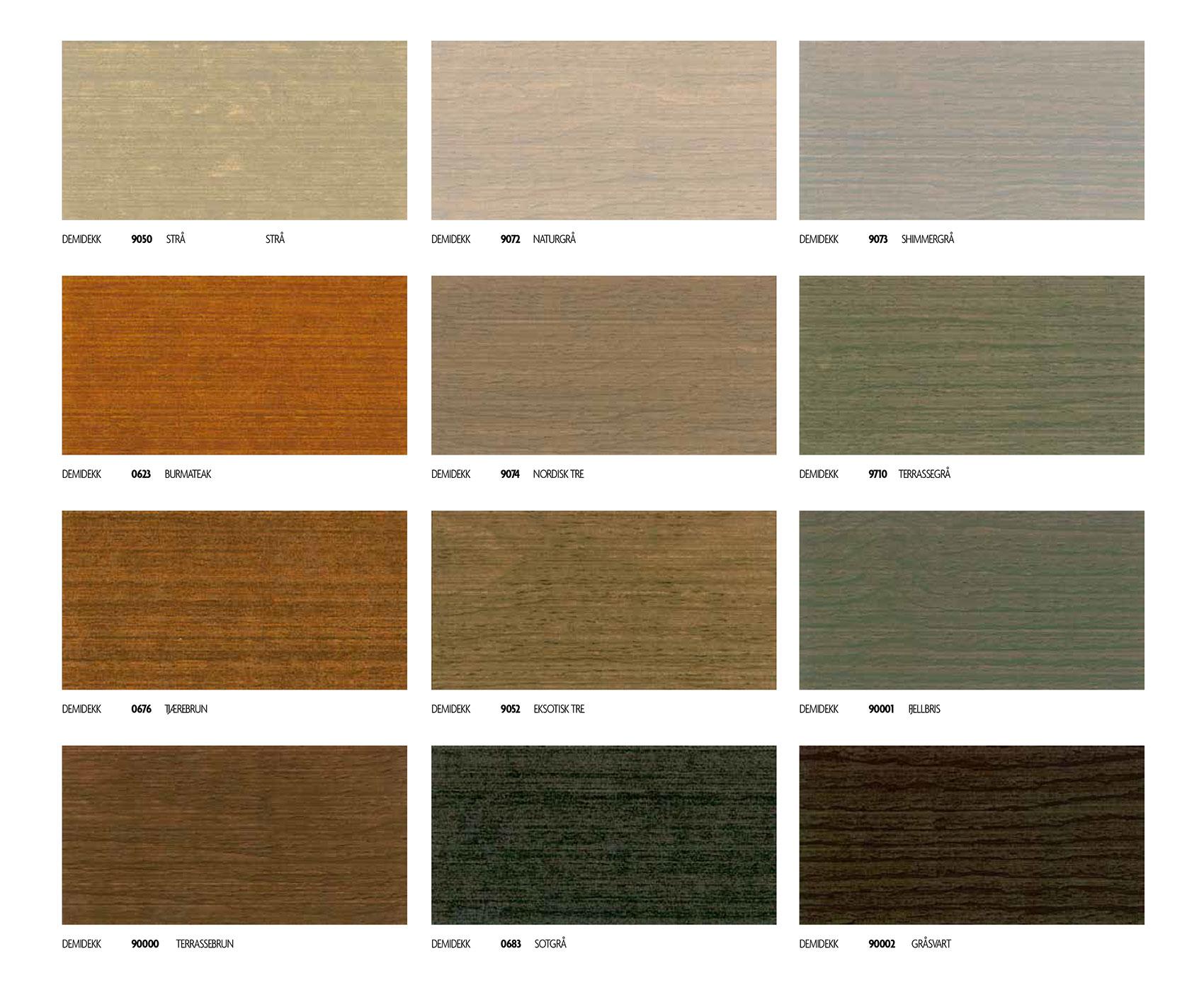 nuancier couleur Jotun lasure translucide pour terrasse