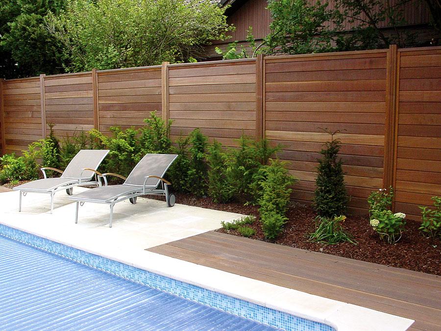 planche d'emboitement pour palissade en bois exotique