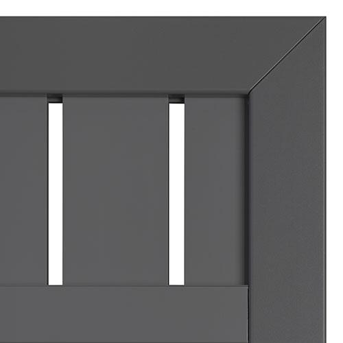 hoektuin aluminium antraciet