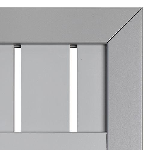 hoektuindeur aluminium zilver