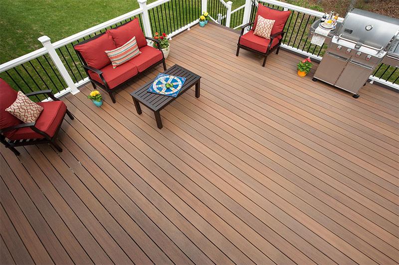 terrasse en bois composite symmetry couleur Sienna