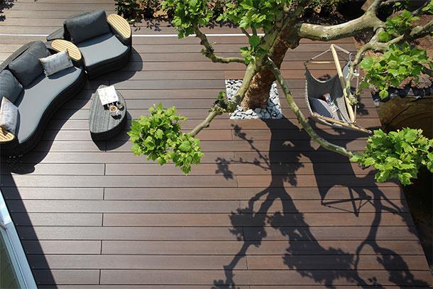 terrasse en bois composite ambiance