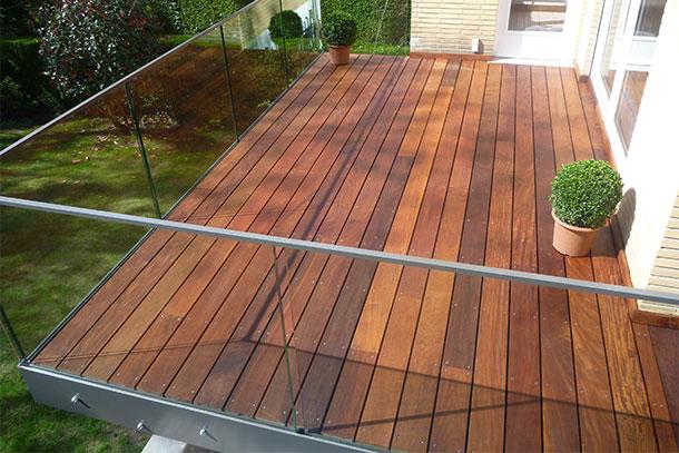 terrasse exotique en bois Ipé