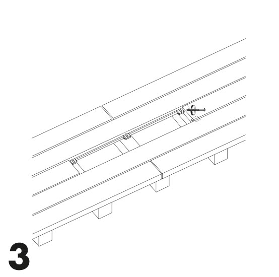 remplacement d'une lame de terrasse avec des vis 3