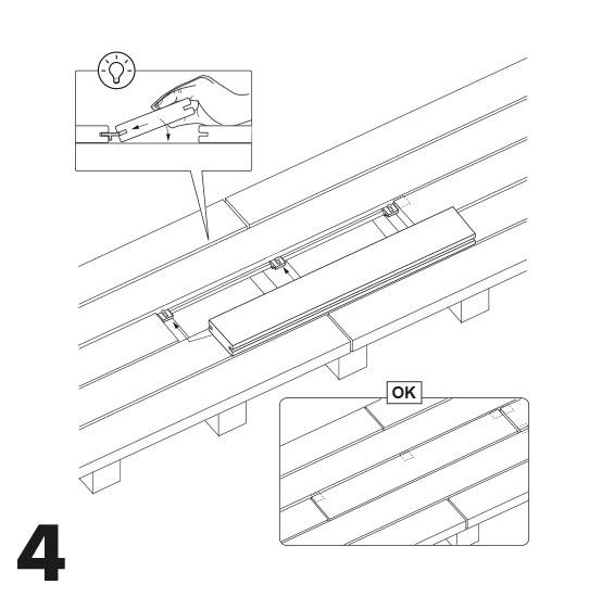 remplacement d'une lame de terrasse avec des vis 4