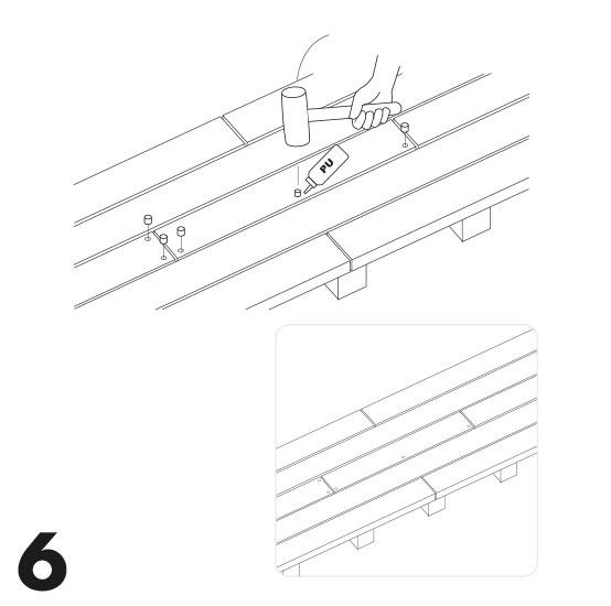 remplacement d'une lame de terrasse avec des vis 6