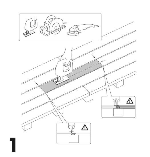 remplacement d'une lame de terrasse avec des clips 1