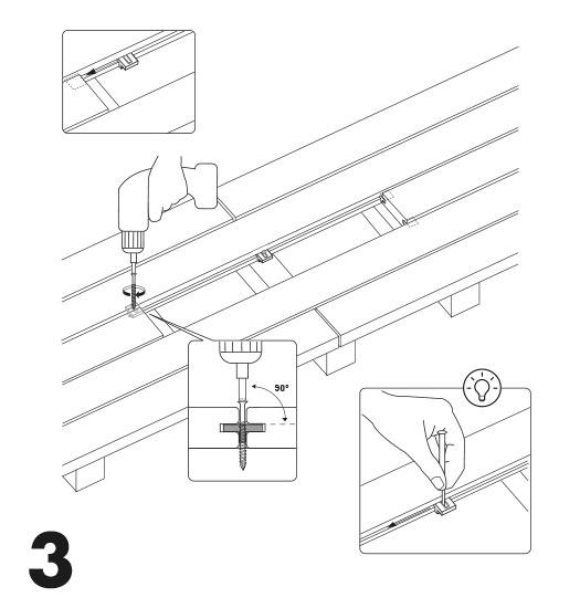 remplacement d'une lame de terrasse avec des clips 3