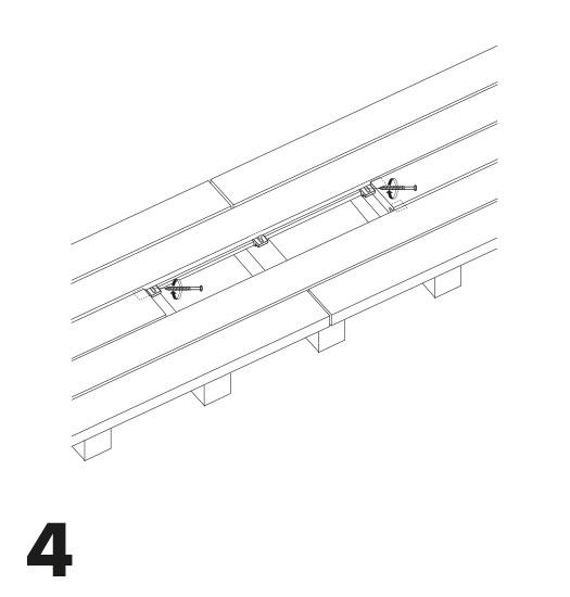 remplacement d'une lame de terrasse avec des clips 4