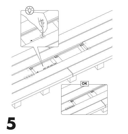 remplacement d'une lame de terrasse avec des clips 5