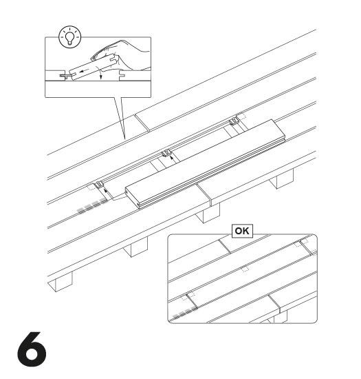 remplacement d'une lame de terrasse avec des clips 6