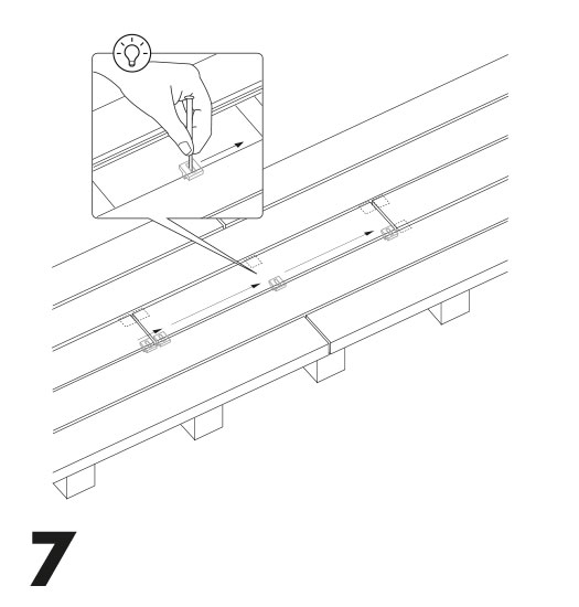 remplacement d'une lame de terrasse avec des clips 7