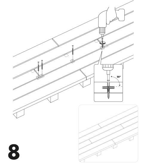remplacement d'une lame de terrasse avec des clips 8